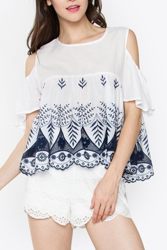 Shoptiques Product: Embroidered Cutout Top
