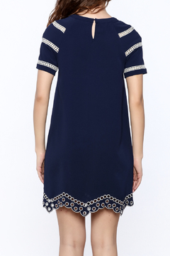 Shoptiques Product: Navy Embroidery Dress