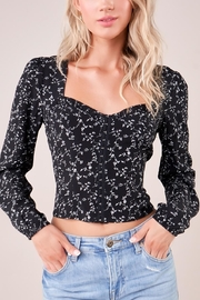 Sugarlips Floral Bustier Top - Product Mini Image