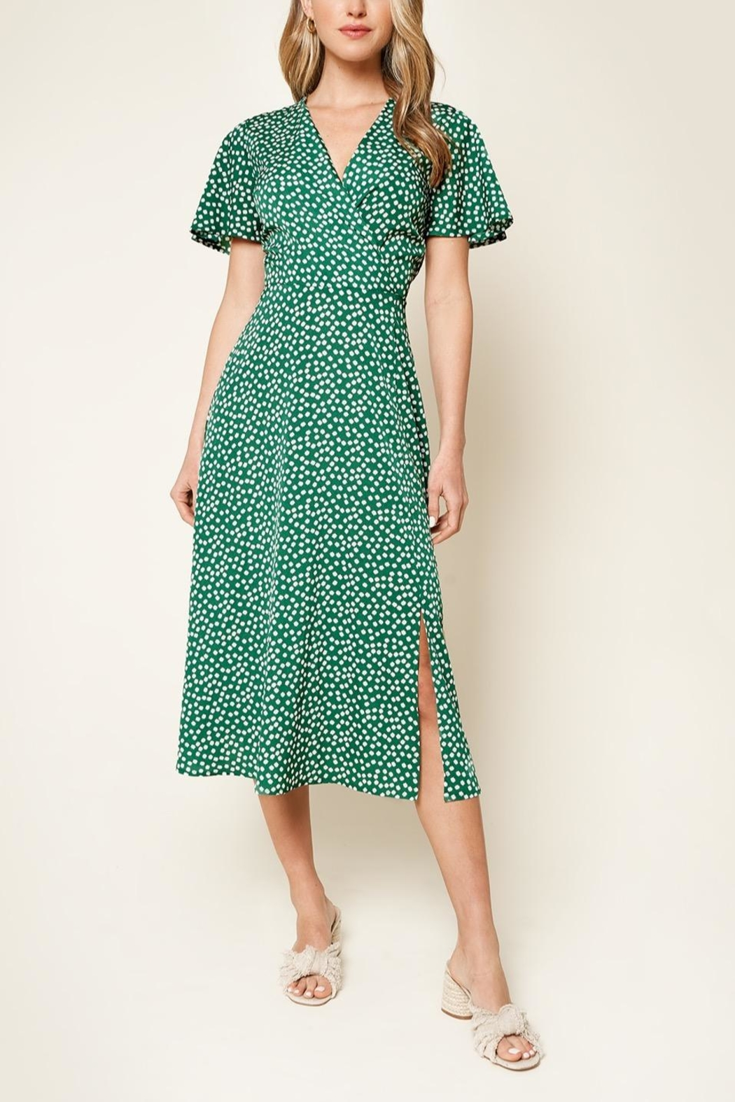Sugarlips Floral Faux Wrap Midi Dress - Main Image
