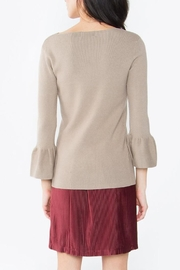 Sugarlips Flounce Sleeve Sweater - Front full body