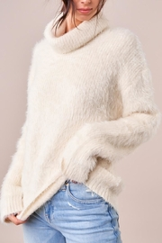 Sugarlips Fuzzy Turtleneck Sweater - Front full body