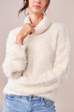 Sugarlips Fuzzy Turtleneck Sweater - Product List Image