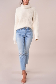 Sugarlips Fuzzy Turtleneck Sweater - Back cropped