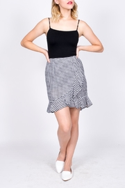 Sugarlips Gingham Ruffle Skirt - Front cropped