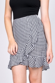 Sugarlips Gingham Ruffle Skirt - Front full body