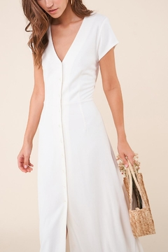 Sugarlips Ivory Button-Down Maxi-Dress - Alternate List Placeholder Image