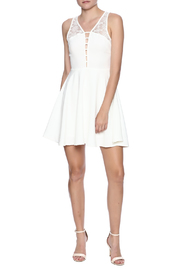Sugarlips Lace Inset Dress - Front full body