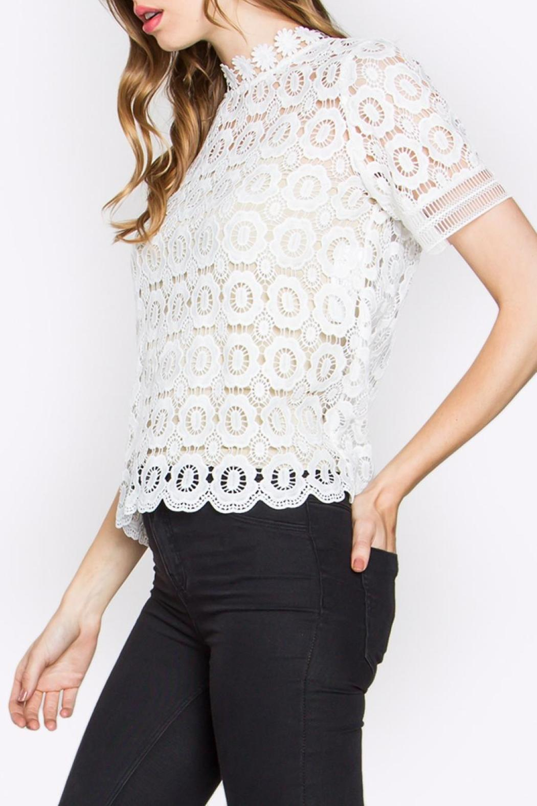 Sugarlips Lace Mock-Neck Top - Front Full Image