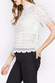 Sugarlips Lace Mock-Neck Top - Front full body