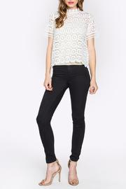 Sugarlips Lace Mock-Neck Top - Back cropped