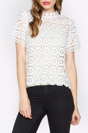 Sugarlips Lace Mock Neck Top From Minneapolis By