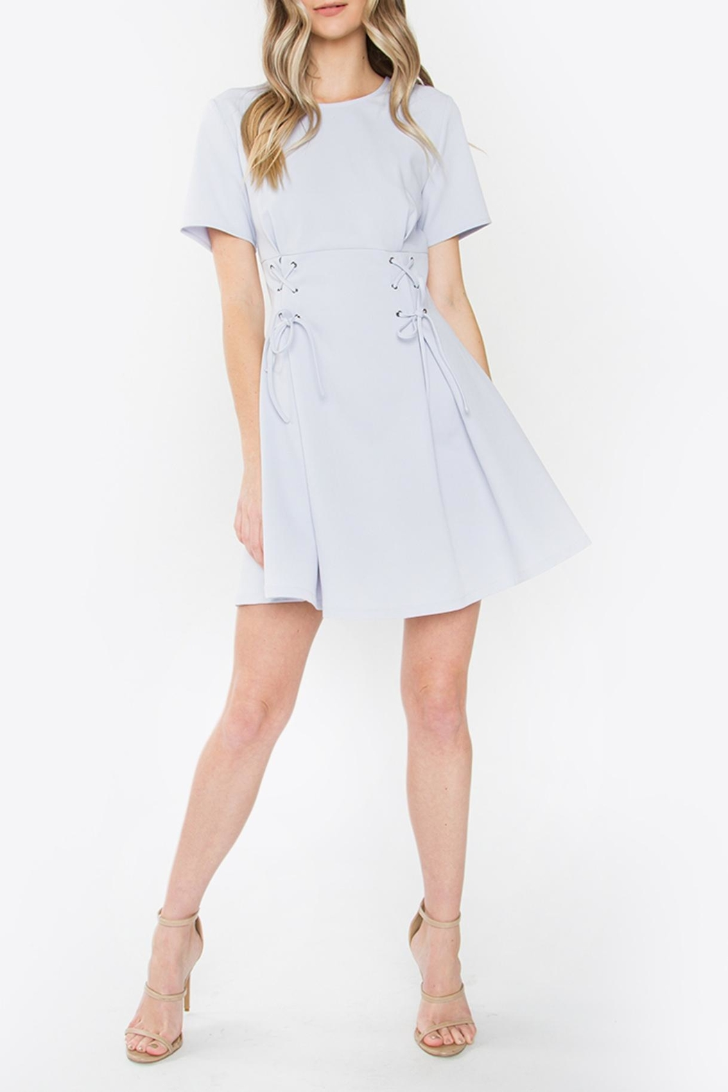 Sugarlips Lace-Up Fit-And-Flare Dress - Front Full Image