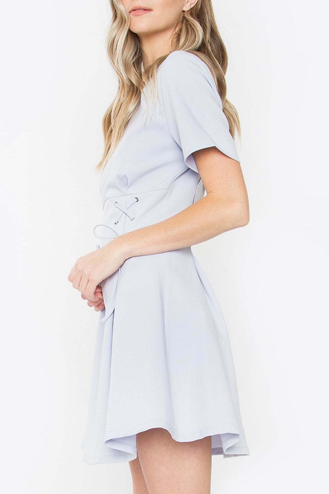 Sugarlips Lace-Up Fit-And-Flare Dress - Side Cropped Image