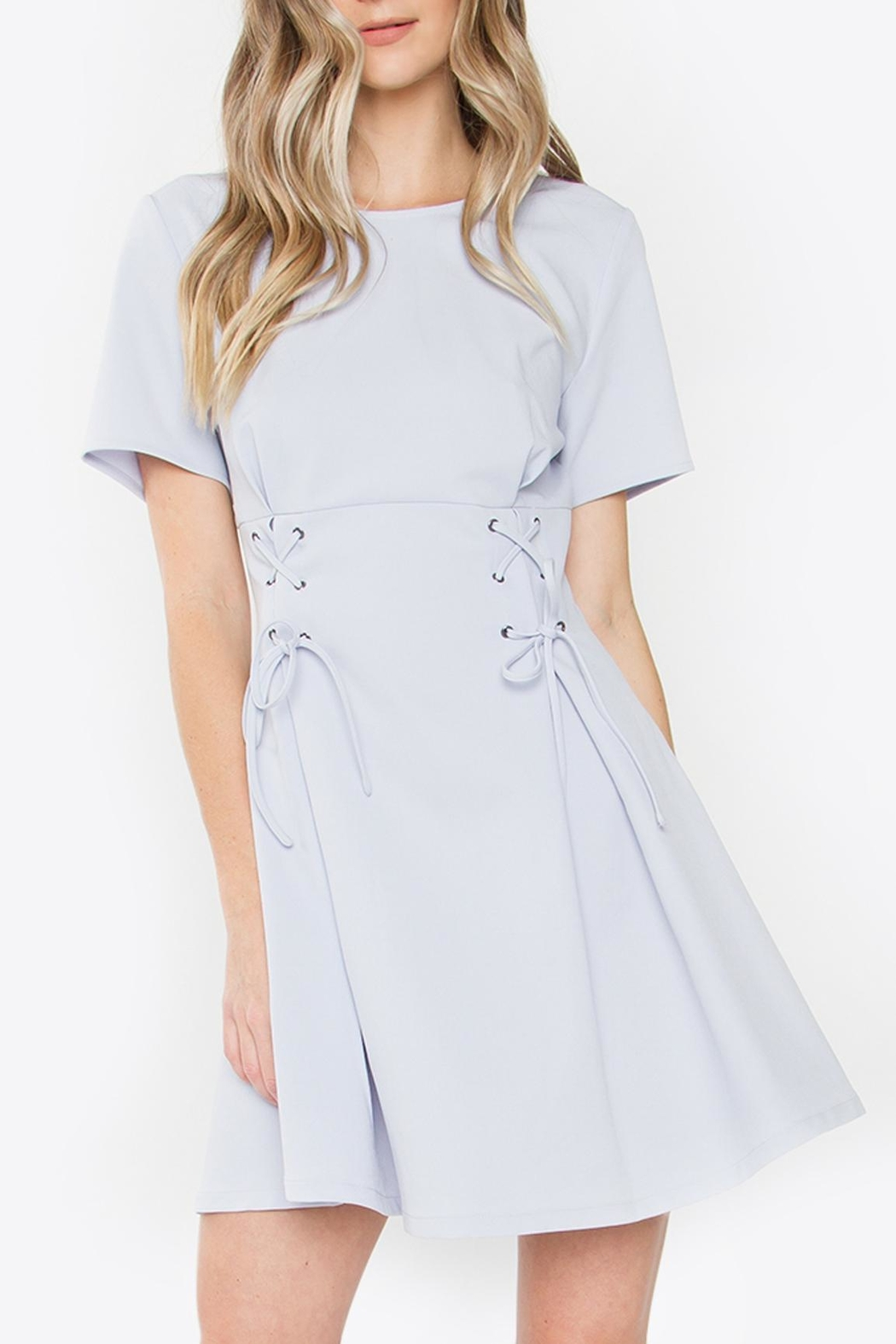 Sugarlips Lace-Up Fit-And-Flare Dress - Main Image