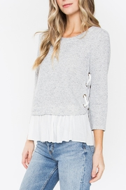 Sugarlips Lace-Up Peplum Sweater - Product Mini Image