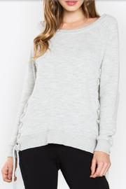 Sugarlips Lace Up Sweatshirt - Product Mini Image
