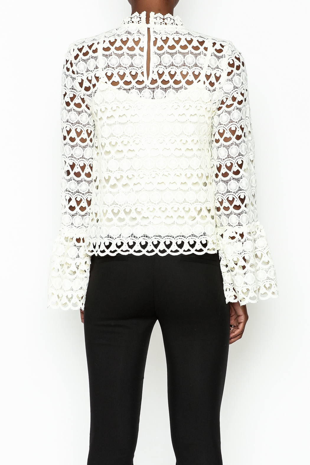 Sugarlips Leah Crochet Top - Back Cropped Image