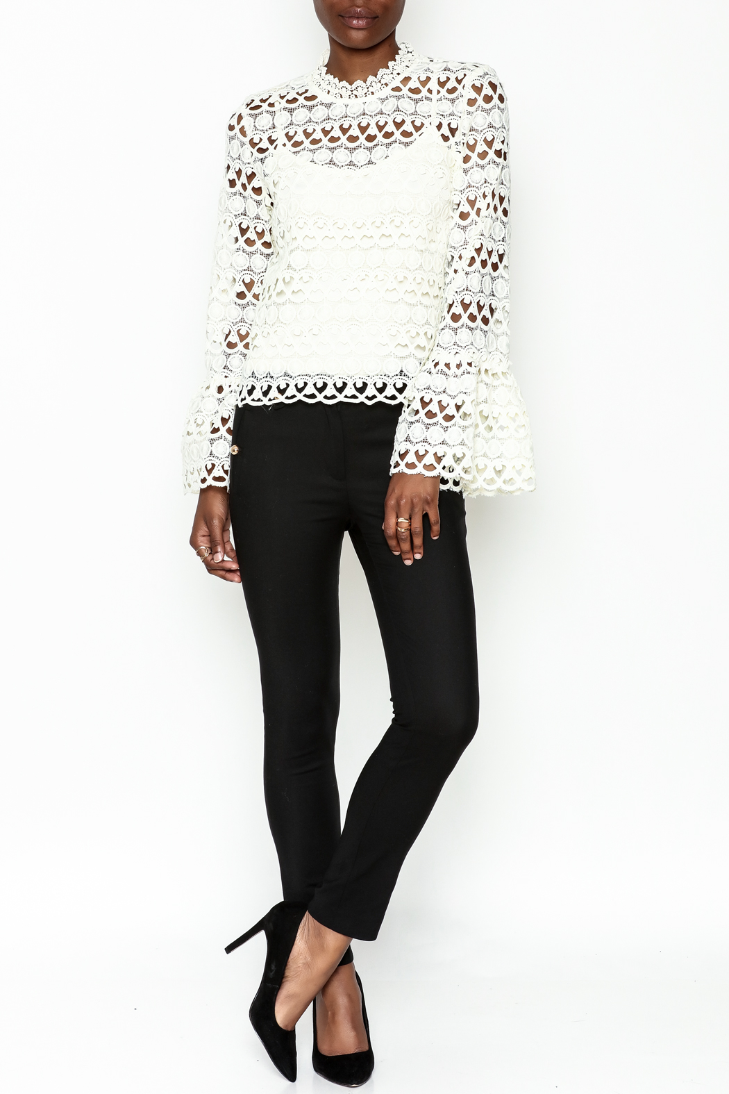 Sugarlips Leah Crochet Top - Side Cropped Image