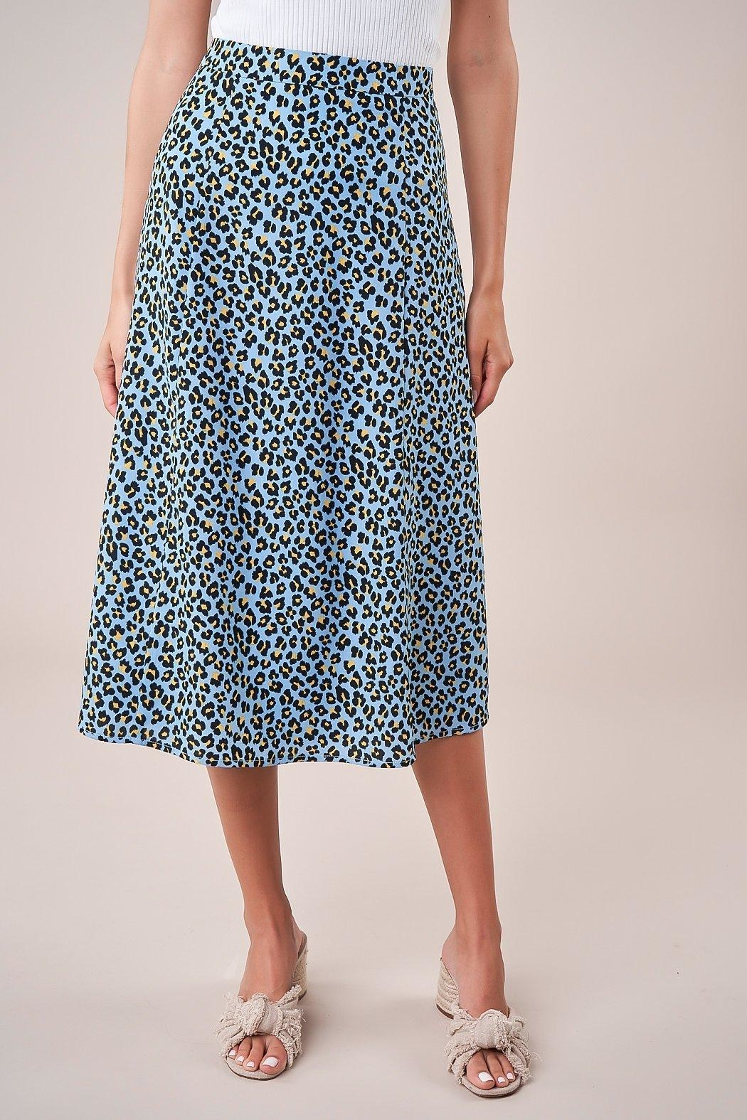 Sugarlips Leopard Midi Skirt - Side Cropped Image