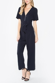 Sugarlips Navy Zip Jumpsuit - Product Mini Image