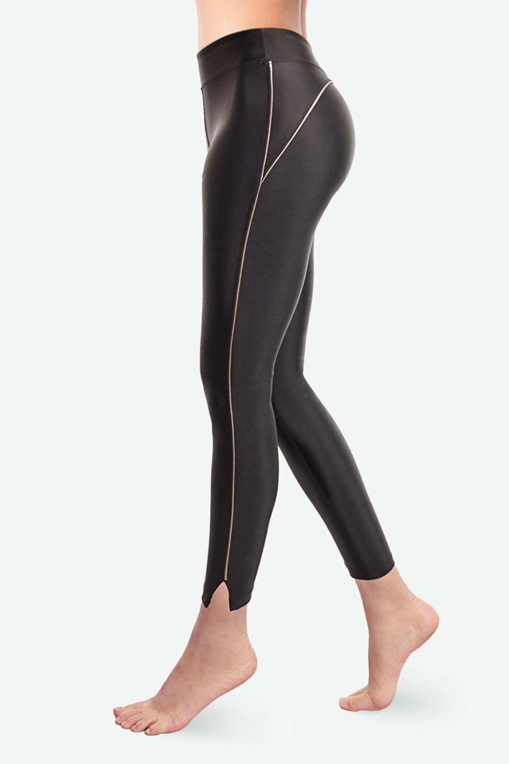 Sugarlips Obsidian Liquid Leggings - Front Cropped Image