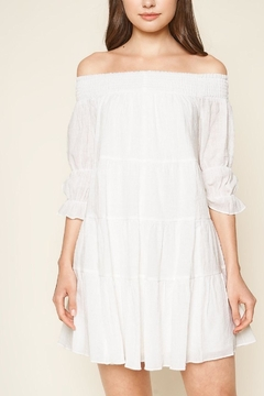 Sugarlips Off-The-Shoulder White Dress - Product List Image