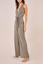 Sugarlips Paperbag-Waist Olive Jumpsuit - Front full body