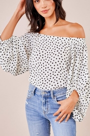 Sugarlips Polka-Dot Off-Shoulder Top - Product Mini Image