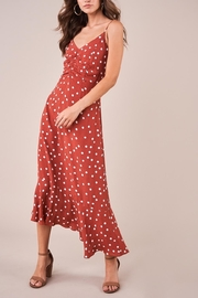 Sugarlips Polka-Dot Ruched Dress - Product Mini Image