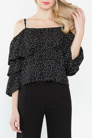 Sugarlips Polka Dot Ruffle Top - Product Mini Image