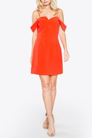 Sugarlips Red Off-Shoulder Dress - Front full body
