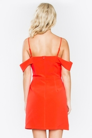 Sugarlips Red Off-Shoulder Dress - Back cropped