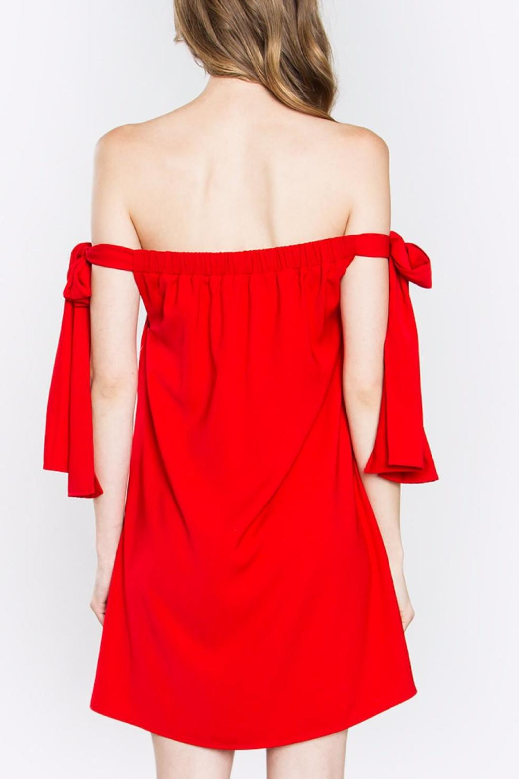 Sugarlips Red Tie Dress - Side Cropped Image