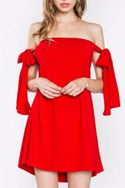Sugarlips Red Tie Dress - Front cropped
