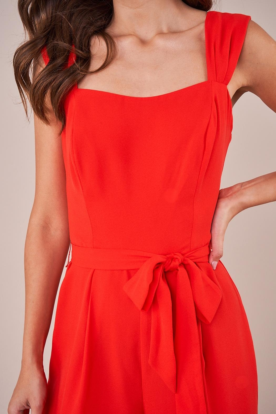 Sugarlips Red Wide-Leg Jumpsuit - Side Cropped Image