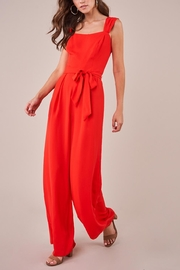 Sugarlips Red Wide-Leg Jumpsuit - Front full body