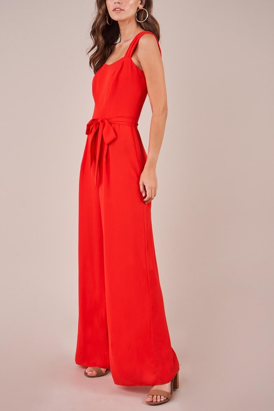 Sugarlips Red Wide-Leg Jumpsuit - Main Image
