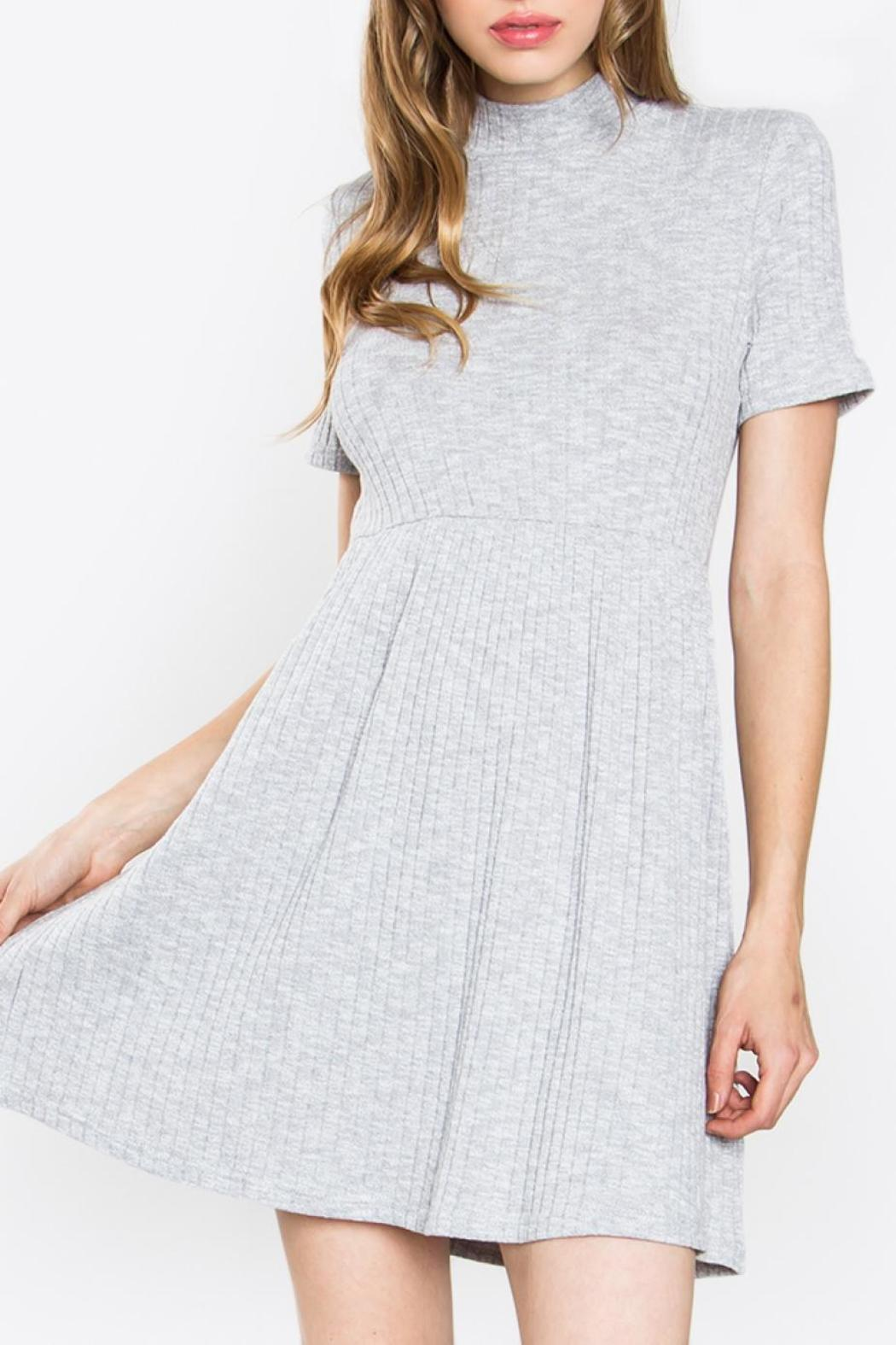 Sugarlips Ribbed Knit Dress - Front Cropped Image