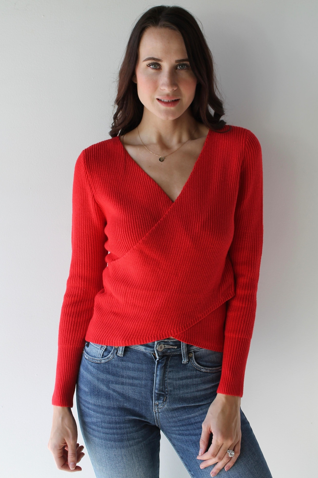 Sugarlips Ruby Sweater Top - Front Full Image