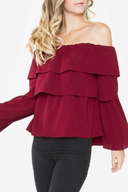 Sugarlips Ruffle Off Shoulder - Front full body