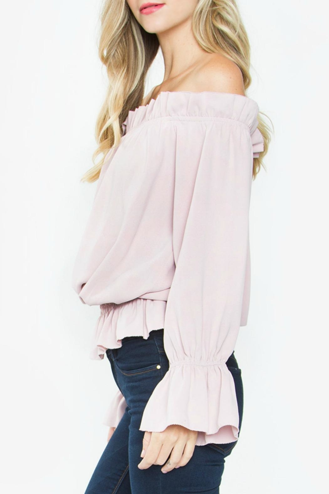 Sugarlips Ruffle Off-The-Shoulder Top - Front Full Image