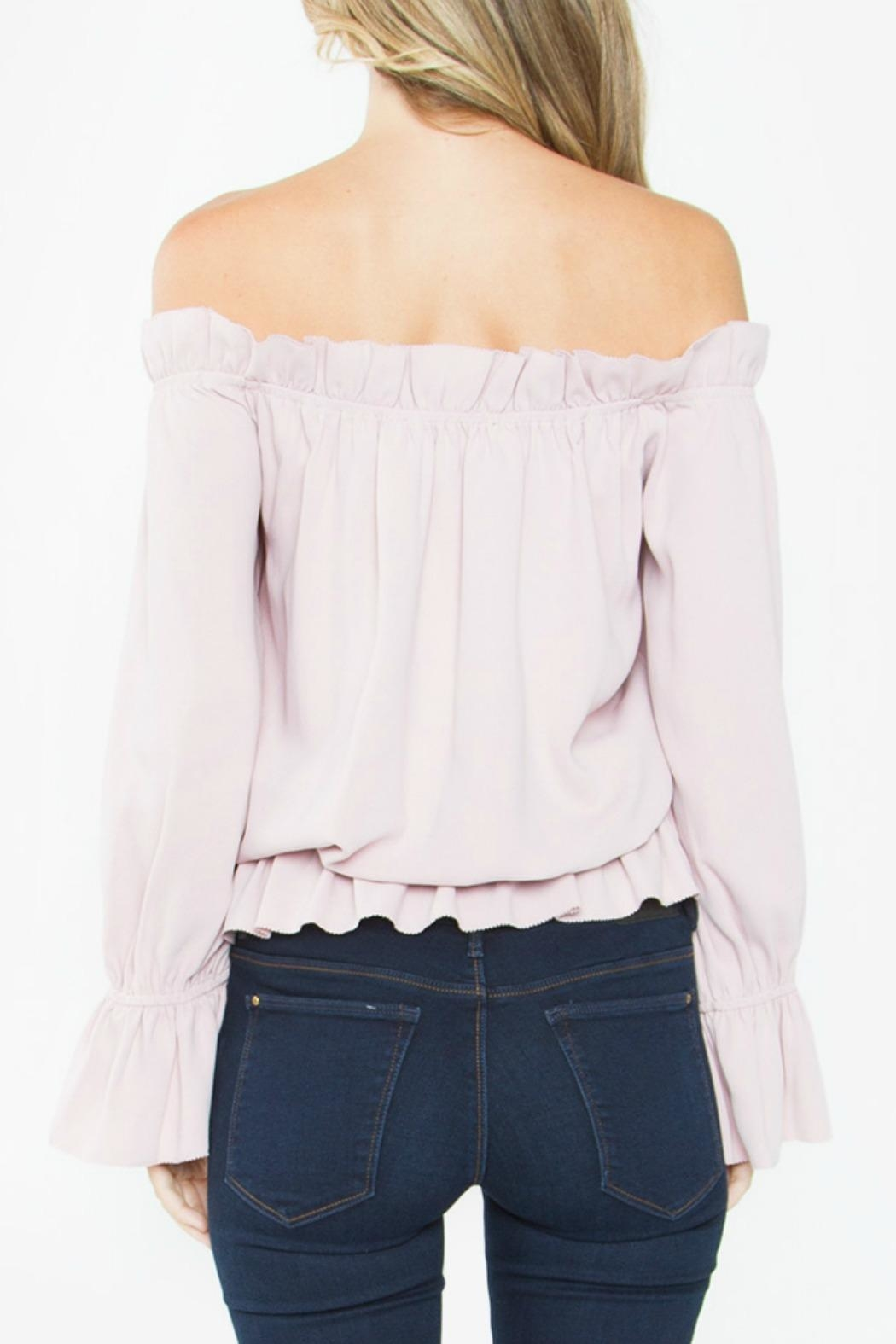 Sugarlips Ruffle Off-The-Shoulder Top - Side Cropped Image