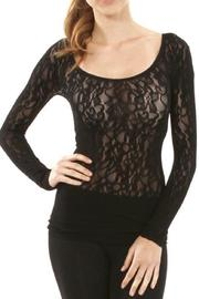 Sugarlips Seamless Lace Top - Front cropped