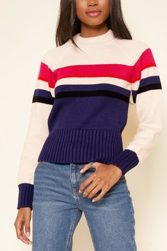 Sugarlips Striped Crew-Neck Sweater - Product List Image