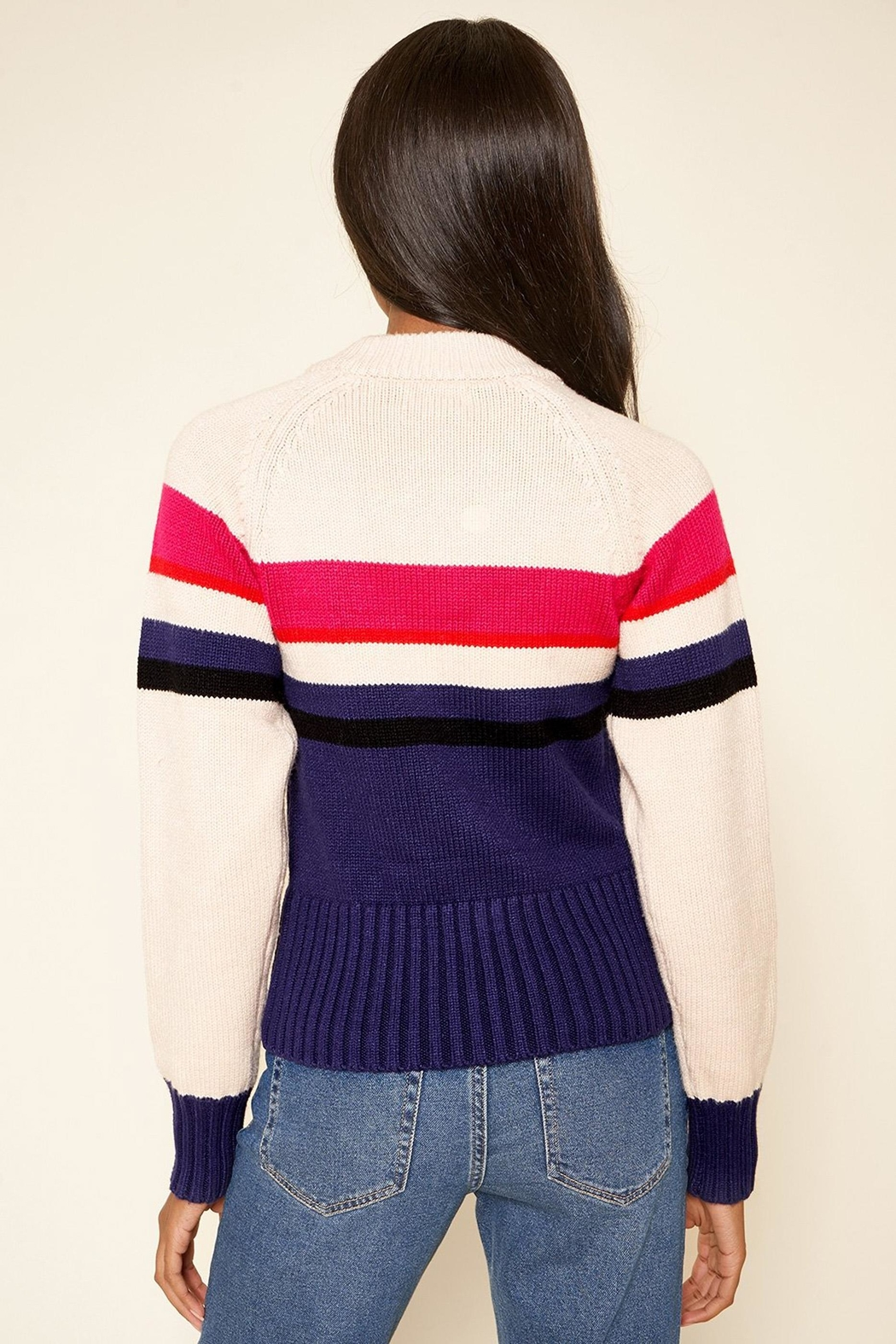 Sugarlips Striped Crew-Neck Sweater - Side Cropped Image