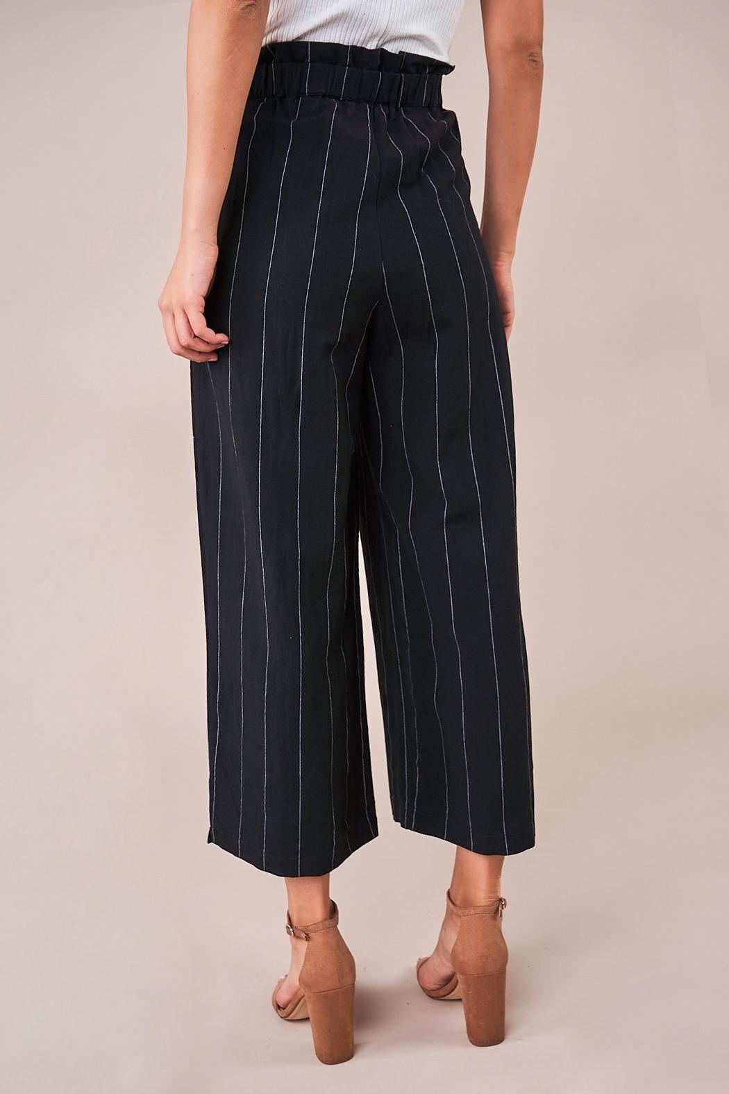 Sugarlips Striped Culotte Pants - Back Cropped Image