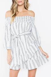 Sugarlips Striped Ruffle Dress - Product Mini Image