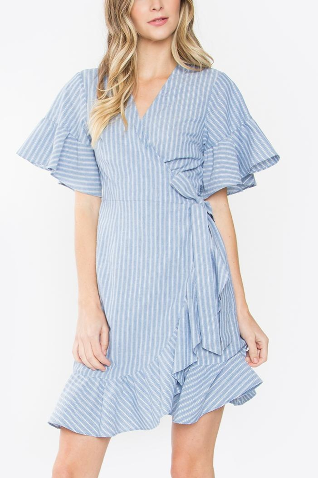 Sugarlips Striped Ruffle Dress - Main Image
