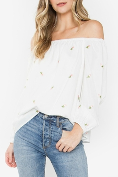 Shoptiques Product: Sweetly Embroidered Off-The-Shoulder